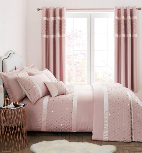Catherine Lansfield Sequin Cluster Blush Bedding Set